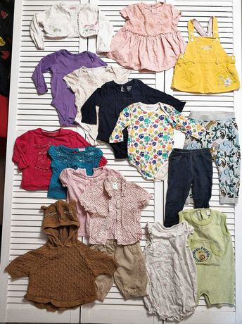 Пакет одежды, набор на девочку 17 шт, 12-18 месяцев