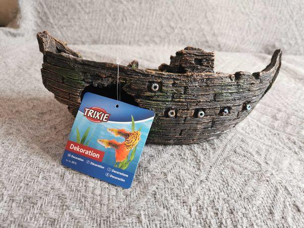 Statek dekoracja do akwarium.