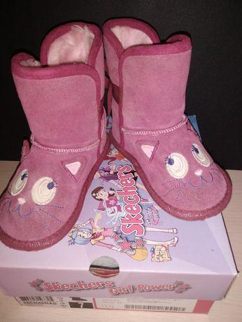 Сапожки Skechers замшевые сапоги ботинки