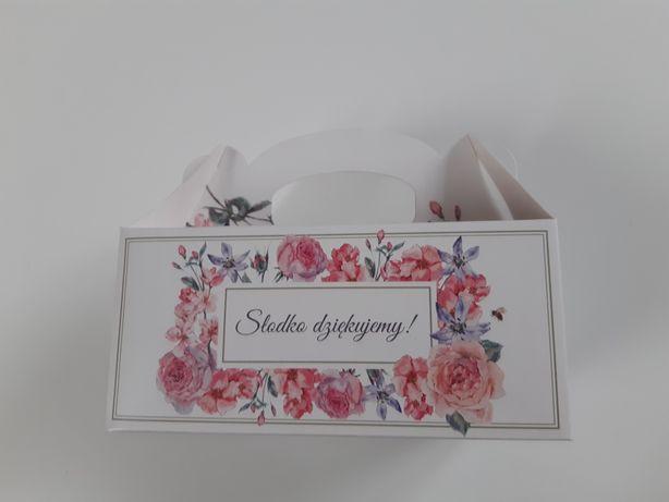 Pudełka na ciastka ślub wesele