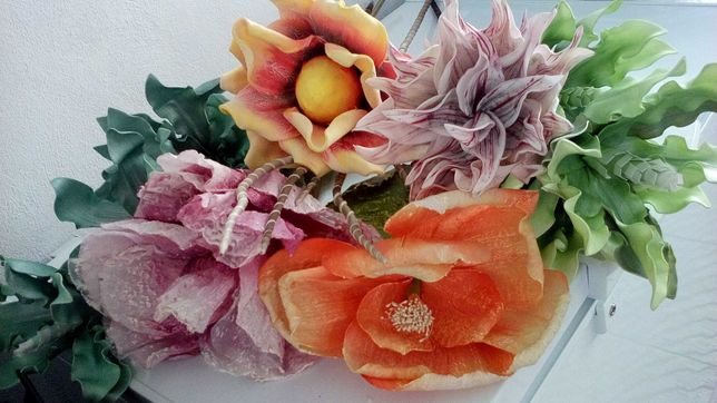 Um jardim diferente! - Flores decorativas, texturadas e em tecido