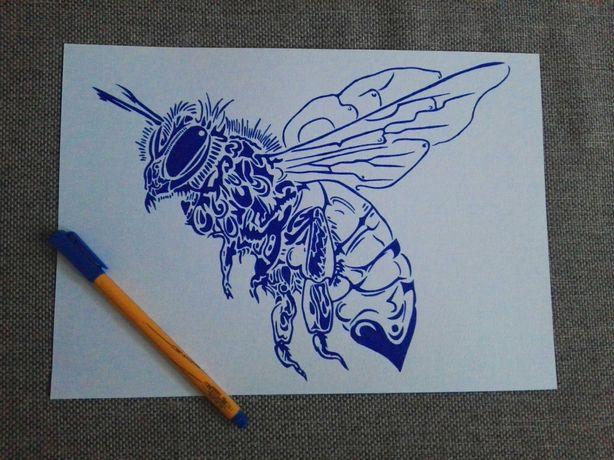 Rysunek: pszczoła - cienkopis, A4, 200g/m2