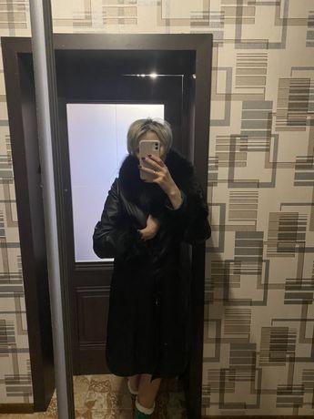 Френч (пальто) кожаный с песцом