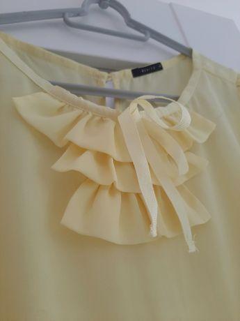Piękna bluzka 36 bananowa jak NOWA MOHITO bufki modna