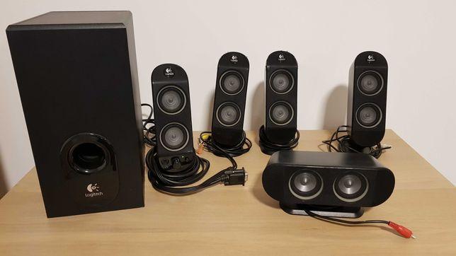Colunas Logitech X-530 5.1 Speaker System
