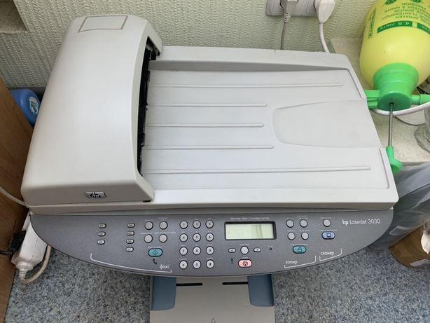 Лазерное МФУ HP LaserJet 3030 принтер сканер лазерный принтер