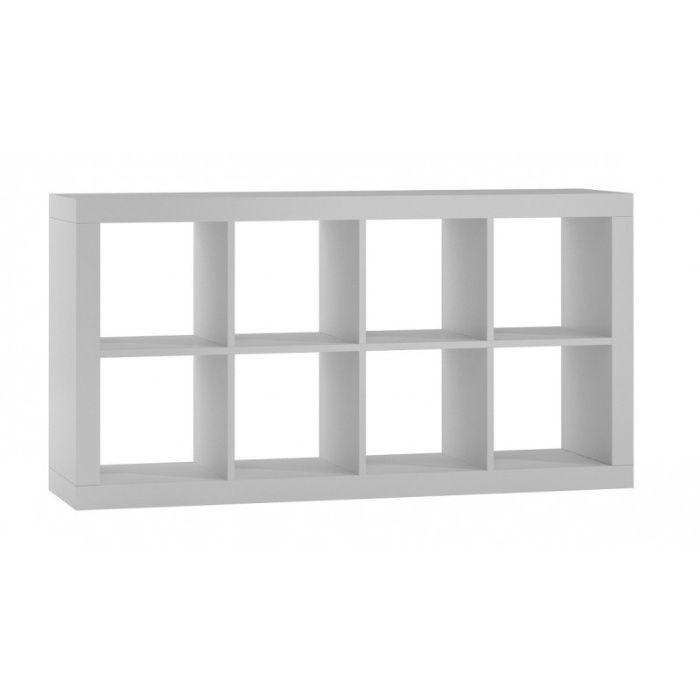 KALAX 2x4 / REGAŁ KOMOROWY szafka 148x38x77 cm / biały mat