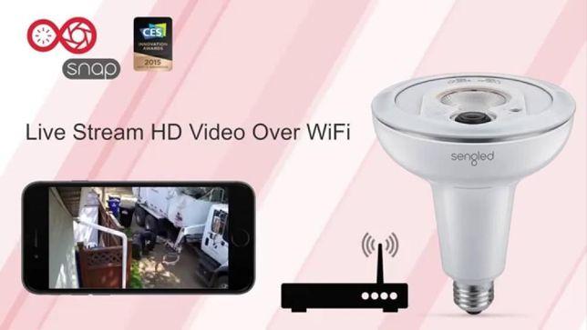 Умная светодиодная лампочка Sengled Snap со встроенной камерой и Wi Fi