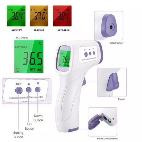 Бесконтактный термометр градусник (тело/предмет) Новый. В наличии.