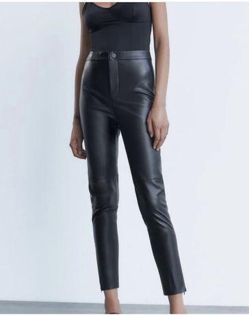 Кожаные штаны леггинсы (шкіряні брюки) Zara
