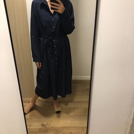 Nowa sukienka granatowa ciążowa