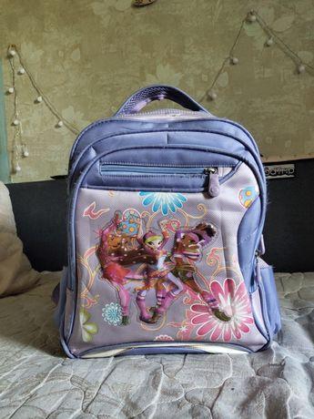 Школьный сиреневый портфель, рюкзак Winx