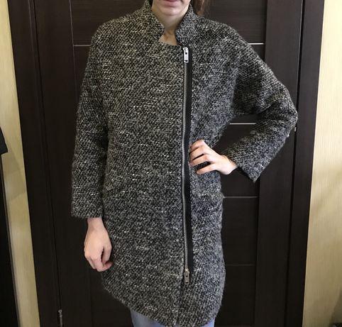 Серое пальто/осеннее весенне пальто/пальто Mango