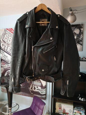 Casaco estilo motard vintage