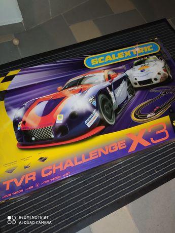 Tor wyścigowy Scalexrtic X3 TVR Challange. Nowy!