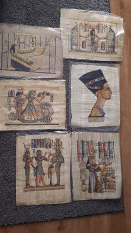 Papirus oryginał Egipt 6 szt.