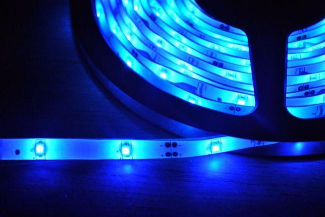 Fita de leds - led - azul - 5 metros - resistente á Água