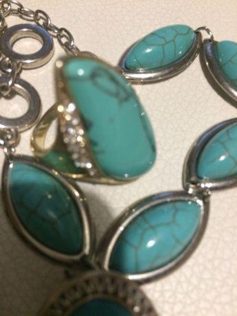 Kolczyki bransoletka pierścionek nowe