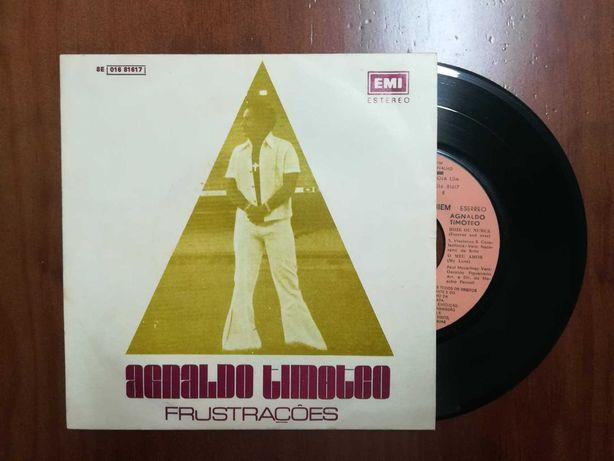 Disco de vinil (single) - Agnaldo Timóteo *Frustações*