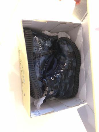 Кожаные лаковые ботиночки