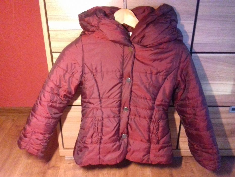 Elegancka kurtka zimowa, ciekawy kaptur, dziewczynka 7-8 lat Węgry - image 1