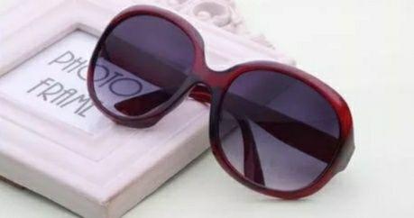 очки солнцезащитные женские красные круглые овальные новые