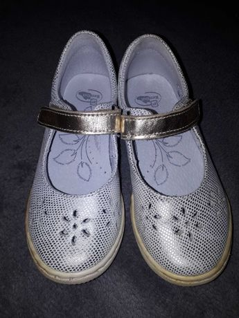 Buty Ren But, rozmiar 27, kolor srebrno-złoty, używane
