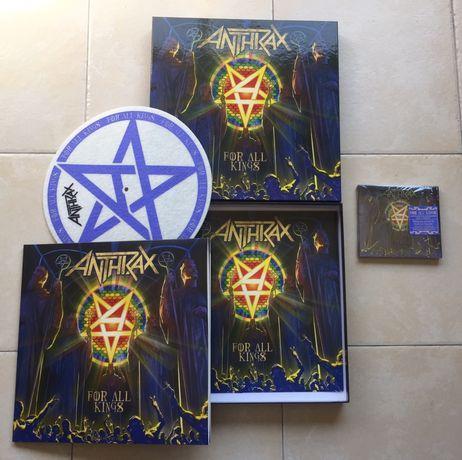 Anthrax For All Kings Box set Caixa 2 Vinil, 2 CD, poster, etc