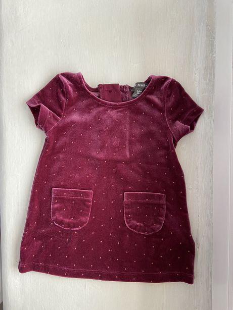 Платье грудничек до годика 3-6 месяцев как новое пакет вещей бархат