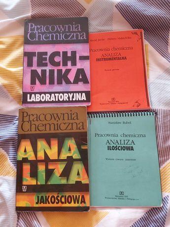 """Podreczniki """"Pracownia chemiczna"""" cały zestaw."""