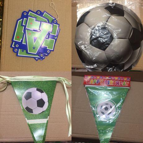 Первый День Рожденья вечеринка футбол гирлянды