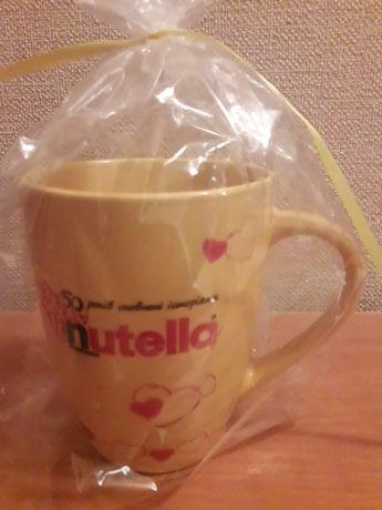 """Фирменная желтая чашка """"Nutella"""", кружка Нутелла на подарок подарунок"""