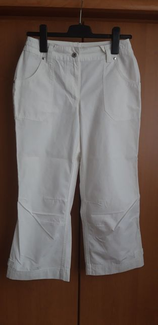 Spodnie białe 36 S nowe pas 70 cm