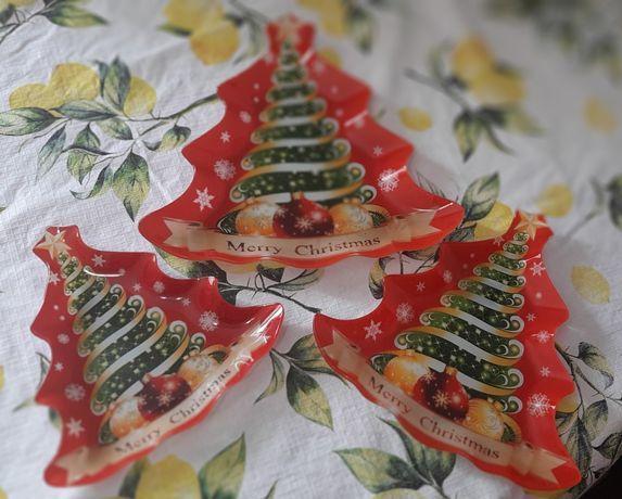 Pratos decorativos/aperitivos Natal