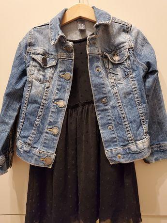 Katana, kurtka jeansowa zara dziewczynka 3-4 lata