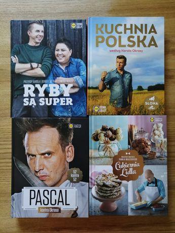 Książki kucharskie Lidl. Ryby, Kuchnia polska, Cukiernia Lidla, Pascal