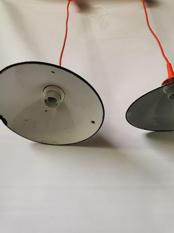 Stara lampa emaliowana bauhaus vintage