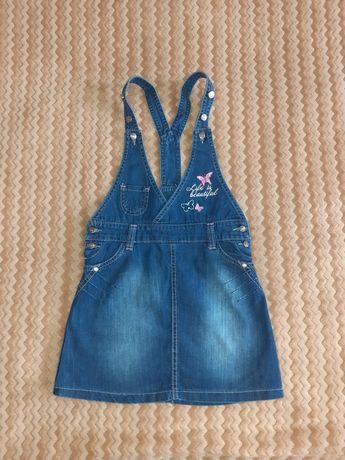 Джинсові сарафани на дівчинку, джинсове плаття