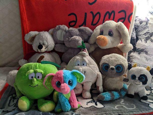 Продам мягкие игрушки мишка мышка глазастики лемур слон бык корова