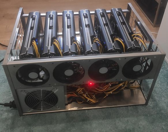 Mining Rig 6 X XFX 5700 XT 8GB 342 mhs ETH