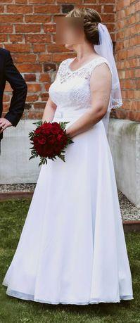 Suknia ślubna Koronkowy gorset księżniczka regulowana  rozm. 42-46