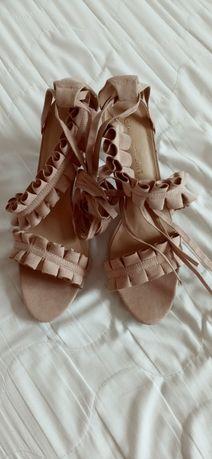Buty sandały obcas rzemyki nowe rozmiar 41