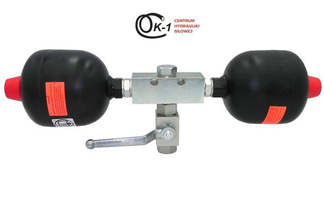 Amortyzator hydroakumulator podwójny 1L do tura