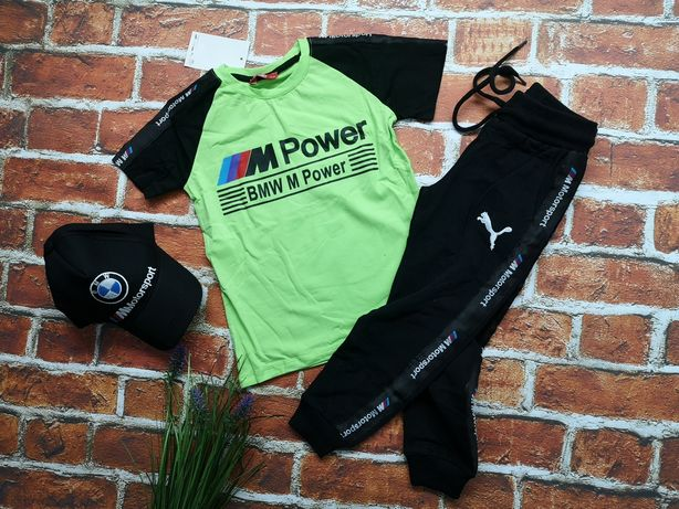 5 kolor w zesraw BMW logo puma czapka spodni i koszulka 98-164cm