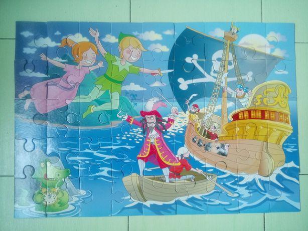 """Пазлы """"Питер Пен против пиратов"""", 63 см на 43 см, большая картина"""