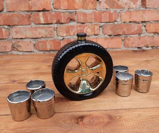 Подарочный набор Запаска, колесо бутылка, подарок мужчине, в машину