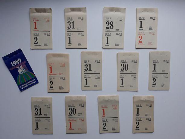 kartki z kalendarza rok 1989