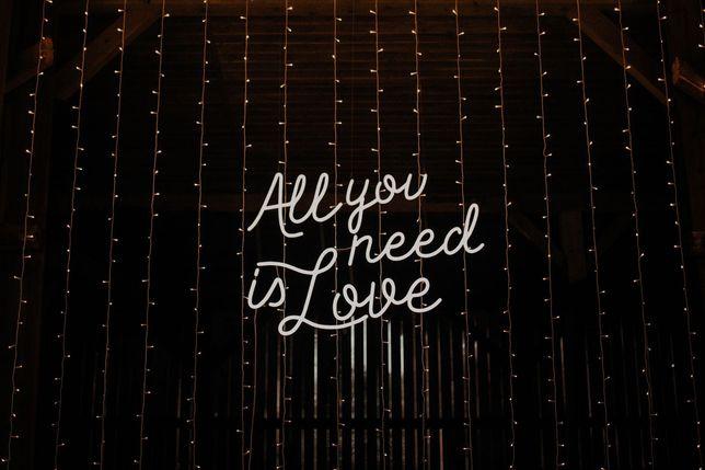 Ledon Napis All You Need Is Love Na Twoje Wesele Radom Warszawa