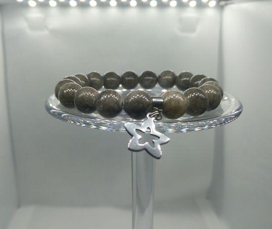 Nowe Bransoletki Stal Chirurgiczna Kamień 10mm