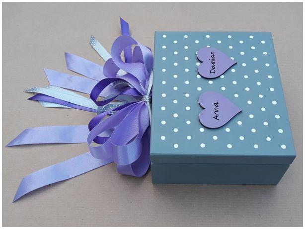 Pudełko spersonalizowane prezent na ślub dla Młodej Pary, wesele
